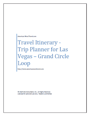 Travel Itinerary-Trip Planner for Las Vegas – Grand Circle Loop